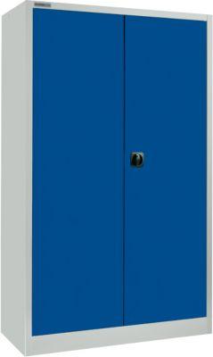 Materialschrank MS 2509, mit Böden, H 1935 mm, lichtgrau/enzianblau