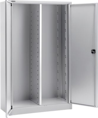 Materialschrank MS 2512, B 1200 x T 500 x H 1935 mm, alusilber