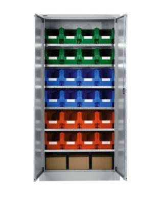 Materialschrank MSI 2409, mit 24 Kästen, weißaluminium