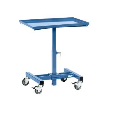 Materialständer, mit Rollen, manuell höhenverstellbar, Stahl, L 605 x B 405 x H 524-774 mm