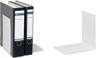 MAUL Buchstütze für Ordner, 240 x 168 x 240 mm, grau