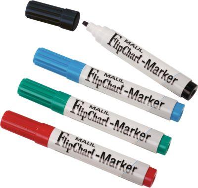 MAUL Flipchart-Marker Jumbo, farbsortiert, 4er-Set, Keilspitze