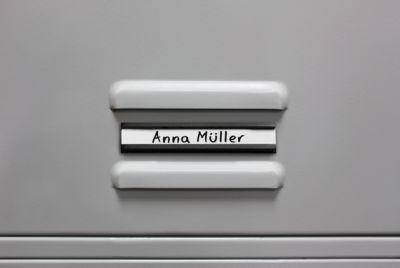 MAUL kartonnen inserts voor profielnaambordjes, wit, b 10 x 50 mm