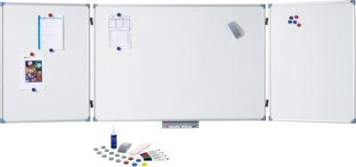 MAUL Klapptafel-Whiteboard, 2 Flügel, 1000 x 1500 mm, inklusive Starterkit