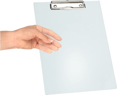 MAUL Klemmbrett, DIN A4, Kunststoff, mit Aufhängeöse, transparent