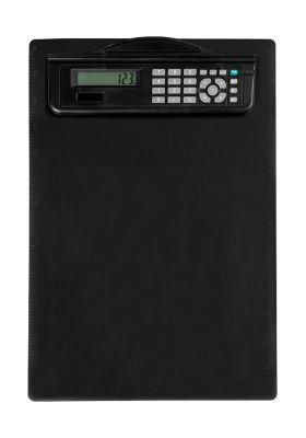 MAUL Klemmbrett, DIN A4, Kunststoff, mit Rechner, schwarz