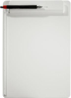MAUL Klemmbrett, DIN A4, Kunststoff, mit Stifthalterung, weiß