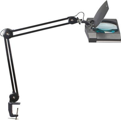 MAUL LED burolamp VITRUM met loep en met klem, extreem laag energieverbruik, zwart