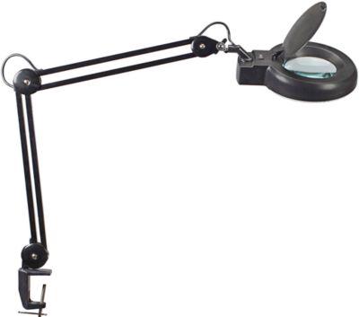 MAUL LED-Lupenleuchte Viso, Klemmfuß, schwarz