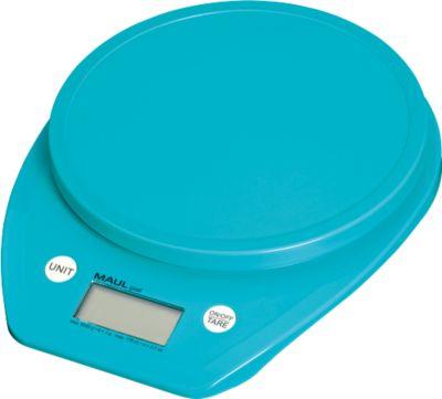 MAUL-letterweegschaal MAULgoal, digitaal, digitaal, batterijgevoed, weegvermogen 5000 g, lichtblauw