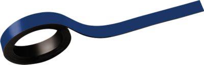 MAUL Magneetstroken, beschrifbaar, breedte 10 mm, lengte 1 meter, blauw, pak van 2