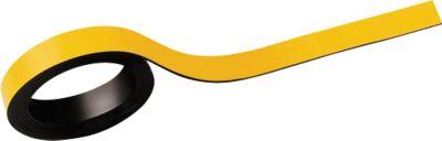 MAUL Magneetstroken, beschrifbaar, breedte 10 mm, lengte 1 meter, geel, pak van 2