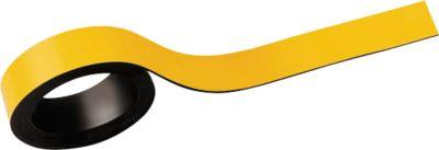 MAUL Magneetstroken, beschrifbaar, breedte 15 mm, lengte 1 meter, geel, pak van 2