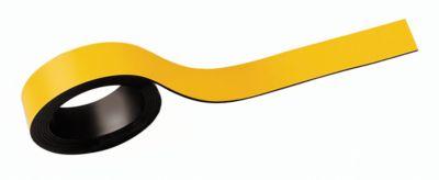 MAUL Magneetstroken, beschrifbaar, breedte 20 mm, lengte 1 meter, geel, pak van 2