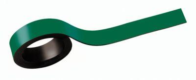 MAUL Magneetstroken, beschrifbaar, breedte 20 mm, lengte 1 meter, groen, pak van 2