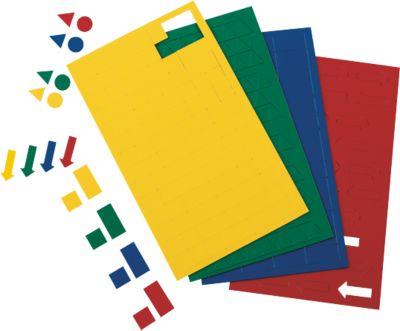 MAUL magneetsymbolen rechthoeken, 10 x 20 mm, geel, 56 stuks