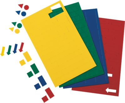 MAUL magneetsymbolen rondjes, Ø 10 mm, geel, 50 stuks