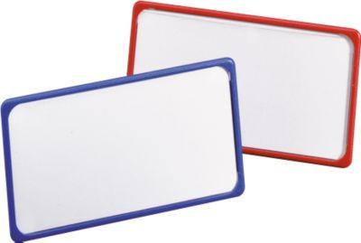 MAUL Magnetische naambadges, 40 x 75 mm, rood, pak van 25 stuks