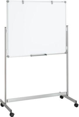 MAUL mobiele kantelbare whiteboard met twee schrijfoppervlakken, 1000 x 1200 mm