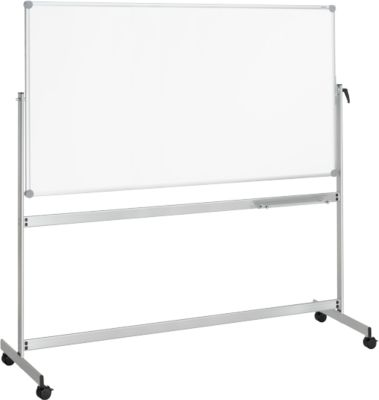 MAUL mobiele kantelbare whiteboard met twee schrijfoppervlakken, gecoat, 1000 x 2100 mm