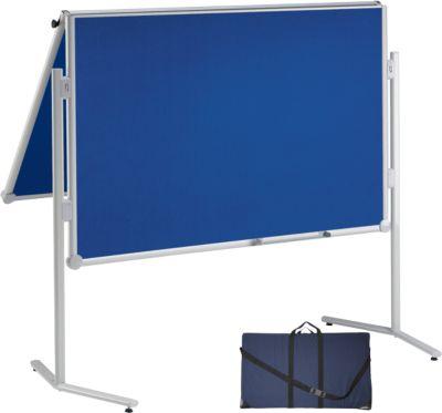 MAUL Moderationstafel Visuboard profi 2, klappbar, beidseitig Textil, blau + Tragetasche GRATIS
