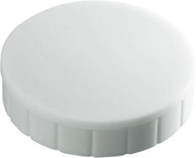 MAUL Solidmagnete, ø 20 x 7,5 mm, 10 Stück, weiß