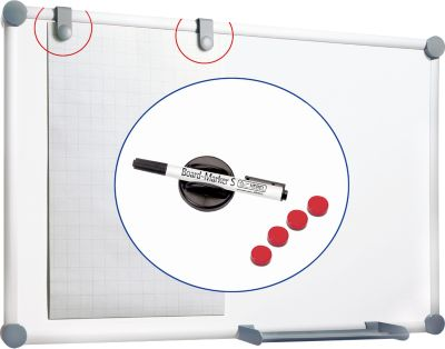MAUL Whiteboard 2000 SET  900 x 1200 mm