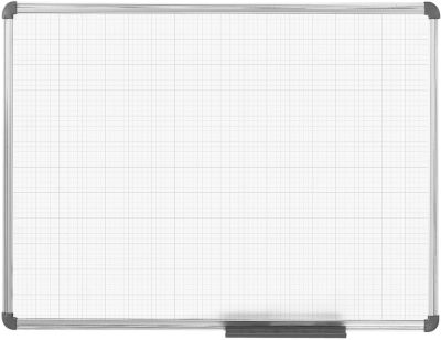 MAUL Whiteboard Basic, fijn rooster, 900 x 1200 mm, 900 x 1200 mm