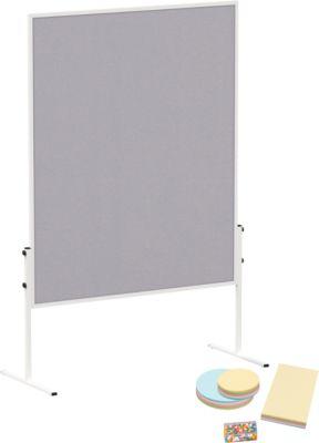 MAULsolid Moderationstafel, Filz grau + Moderationskarten-Set