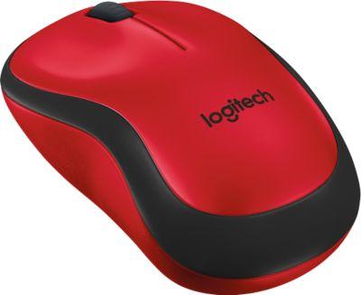Maus Logitech M220 Silent, kabellos, Nano-USB-Empfänger, rot