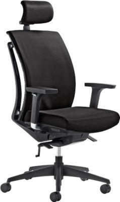 Mayer ARTICHAIR bureaustoel, met hoofdsteun en armleuningen, zwart
