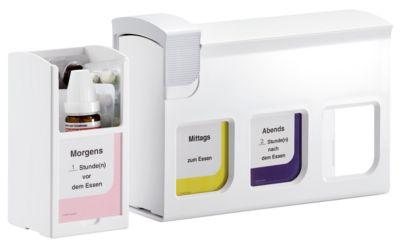 mediTimer® Medikamentendosierer, wochenlange Dosierung, 3er-Basisstation