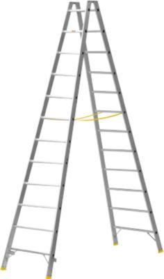 MEHRSI®-Sprossendoppelstehleiter, 12 Stufen