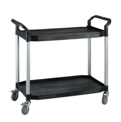 Mehrzweck-Tischwagen, 2 Etagen, 1100 x 520 mm, schwarz