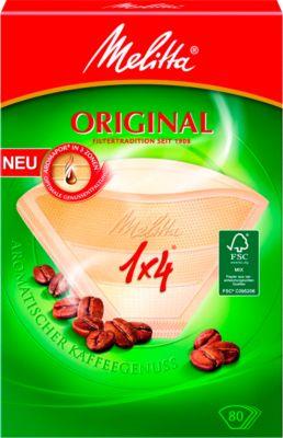 Melitta aromafilters, 1 x 4, bruin