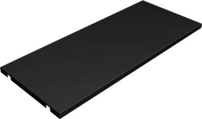Metallfachböden, schwarz, 2er-Pack