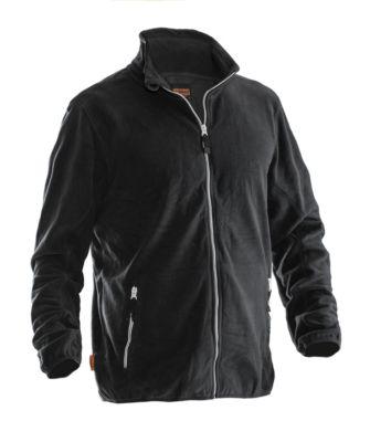 Microfleece Jacke schwarz S