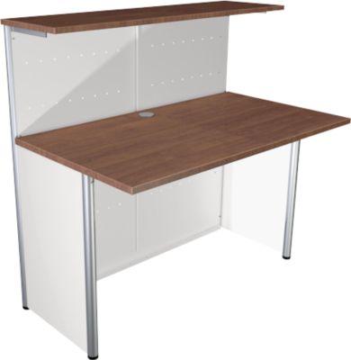 Milano teller, rechte basisteller, wit/aluminiumzilver, rechte basisteller, wit/aluminium zilver