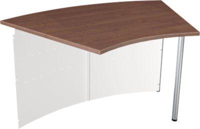 Milano toonbank, tafel 45°, wit/aluminiumzilver, tafel 45°