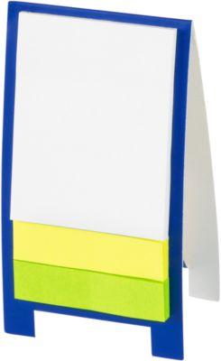 Mini Haftnotizaufsteller, mit 80 Haftnotizen, blau