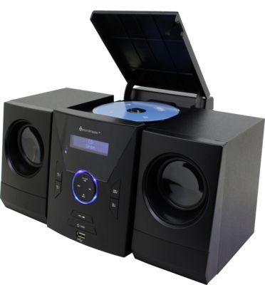 Mini Stereoanlage Soundmaster MCD400, DAB+/UKW, CD/MP3, AUX/USB, 2 x 2,5 W RMS, schwarz