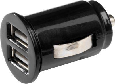 Mini USB-Ladegerät For 2, schwarz