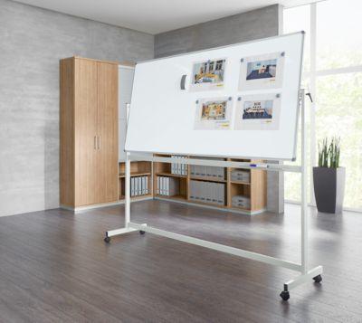 Mobiel whiteboard MAUL-standaard, geplastificeerd, 1000 x 2000 mm.