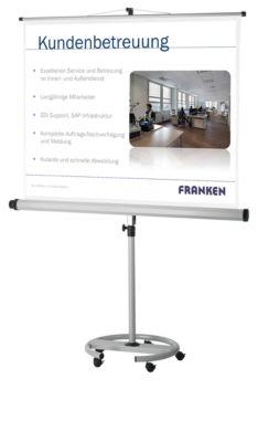 Mobile Stativleinwand Franken Pro,  2000 x 2000  mm
