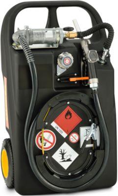 Mobile Tankanlage Benzin-Trolley, 60 l,Handpumpe, Schlauch 2,7 m