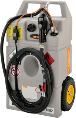 Mobile Tankanlage Diesel-Trolley, 100 l, Elektropumpe 12V, Schlauch 3 m