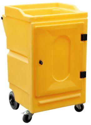 Mobiler Gefahrstoffschrank f. Chemikalien, abnehmbarer Wannenboden, abschließbar, bis 65 kg, PE