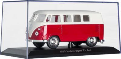 Modellauto VW T1, originalgetreu, B158xT77xH78 mm, rot