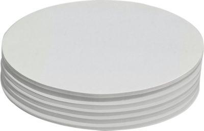 Moderationskarten, oval, 110 x 190 mm, 250 Stück, weiß
