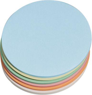 Moderationskarten, rund, ø 195 mm, 250 Stück, farbsortiert
